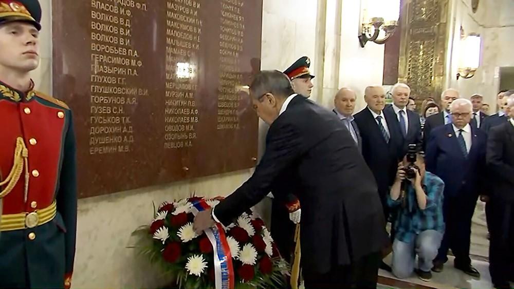 Сергей Лавров почтил память погибших в годы войны дипломатов