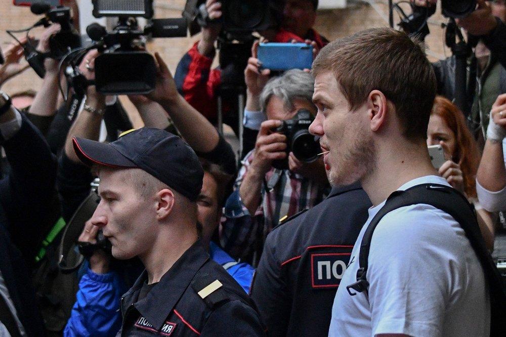 Футболист Александр Кокорин, признанный виновным в хулиганстве и побоях