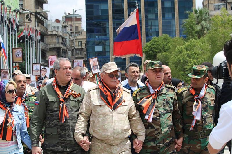 """Акция """"Бессмертный полк"""" в Сирии"""