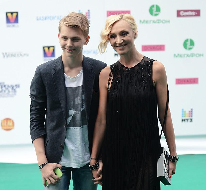 Певица Кристина Орбакайте и ее сын Дени Байсаров