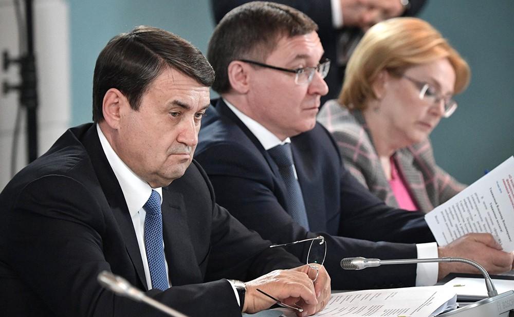 Игорь Левитин, Владимир Якушев и Вероника Скворцова