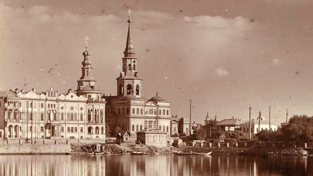 Архивное фото Екатерининского собора в Екатеринбурге