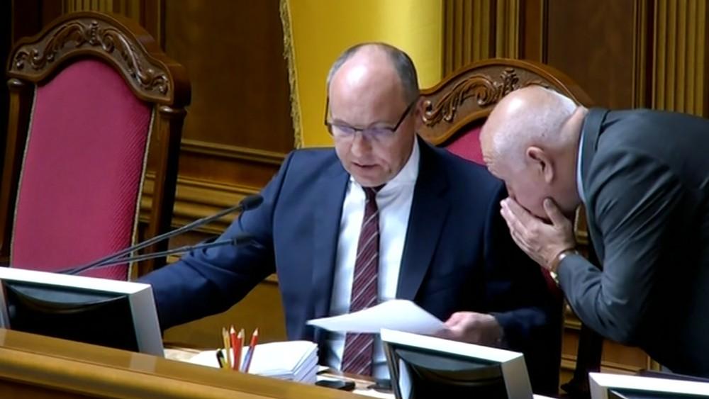 Андрей Парубий в Верховной Раде Украины