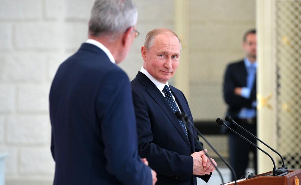 Владимир Путин и Александр Ван дер Беллен