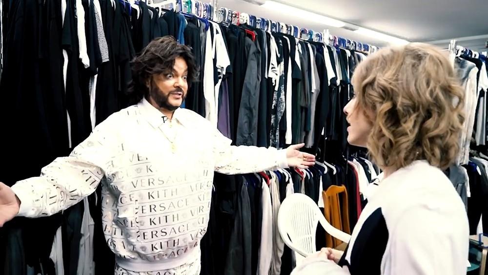 Филипп Киркоров демонстрирует Ксении Собчак свой гардероб