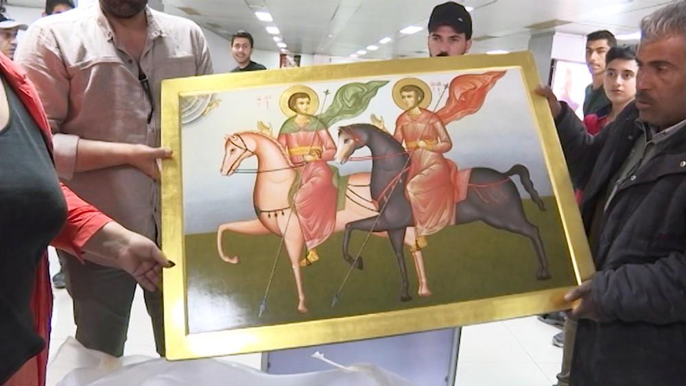 Копия иконы священномучеников Сергия и Вакха