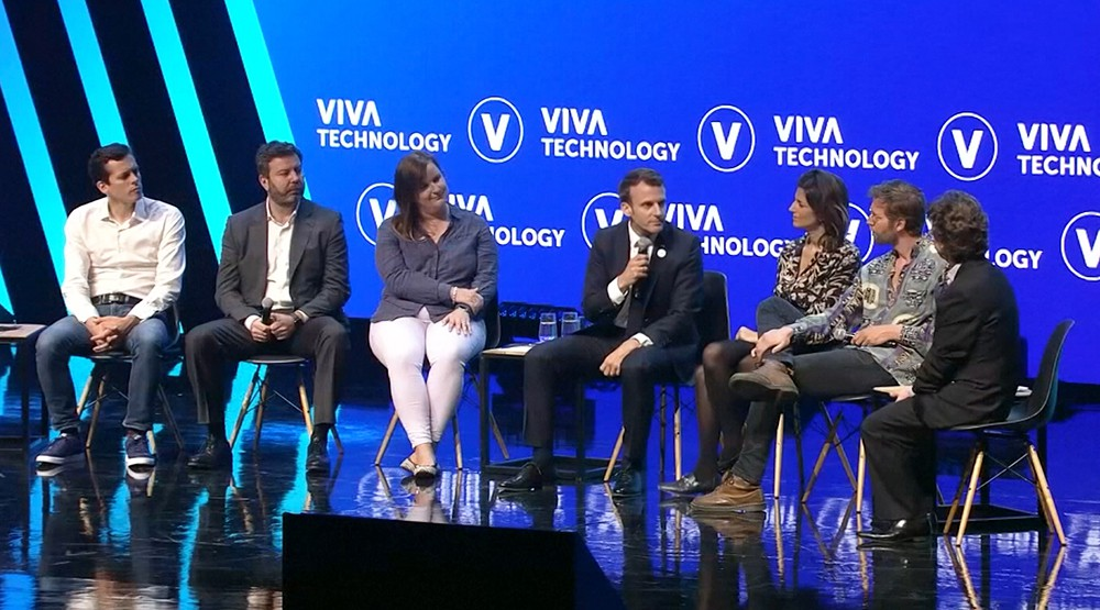 Эммануэль Макрон на конференции по цифровым технологиям