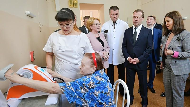 """Дмитрий Медведев посетил """"Госпиталь для ветеранов войн"""""""