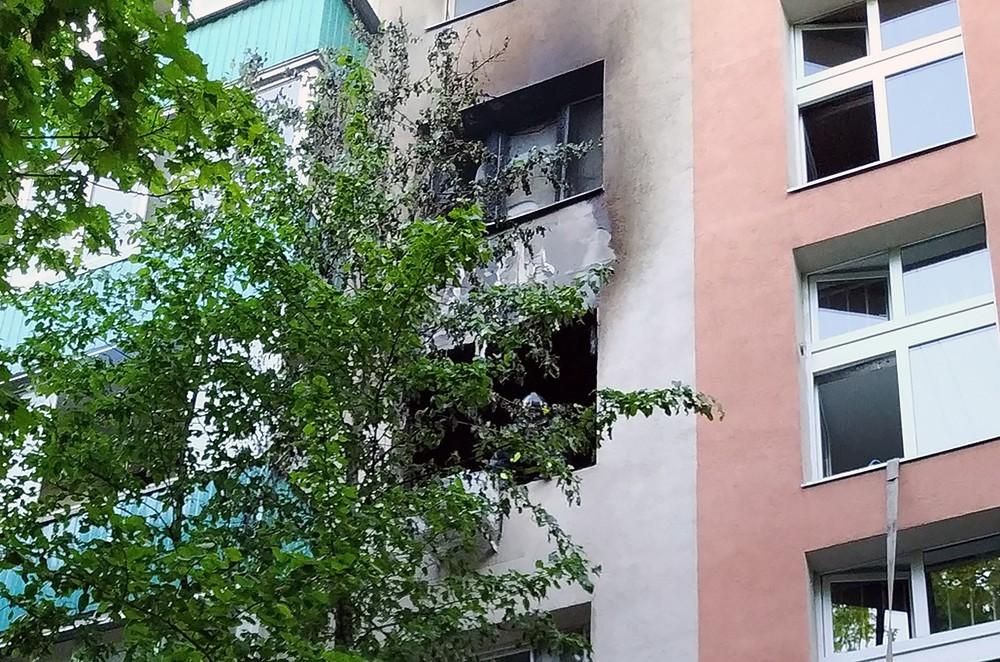 Последствия пожара в квартире многоэтажного дома