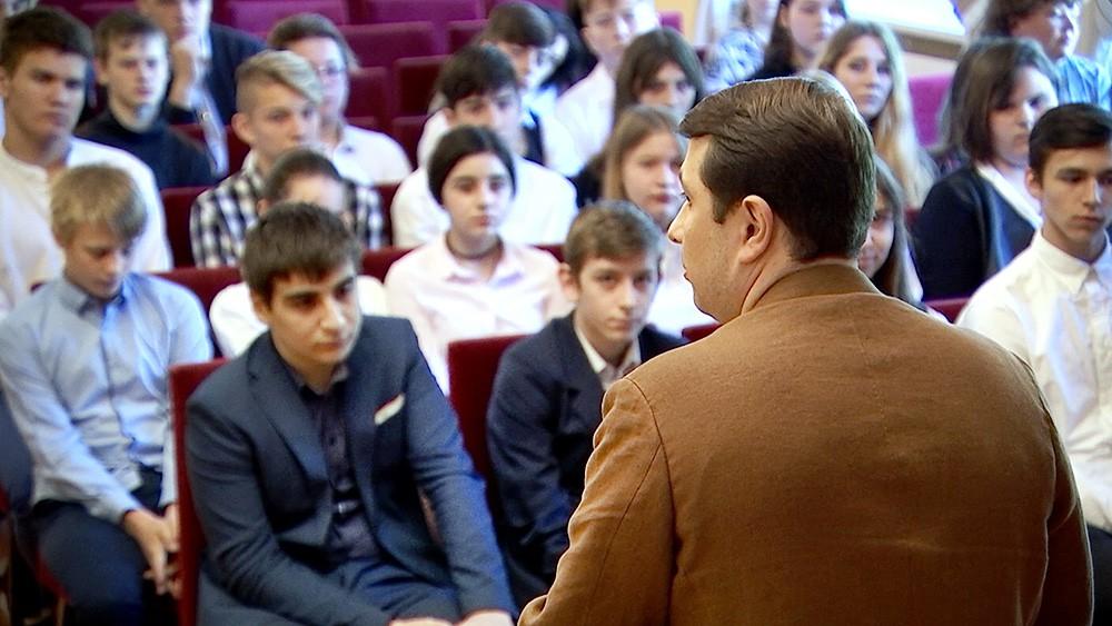 """Участники проекта """"Лидеры России"""" провели мастер-класс для школьников"""