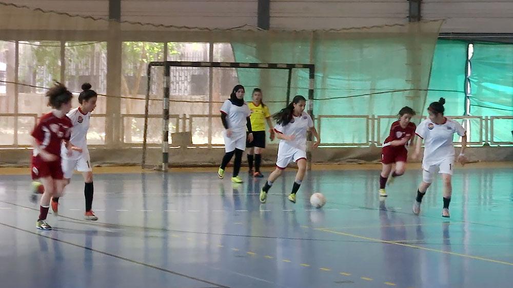 Юниорский турнир по женскому мини-футболу в Сирии