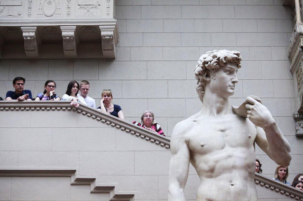 Статуя Давида в ГМИИ имени А.С. Пушкина