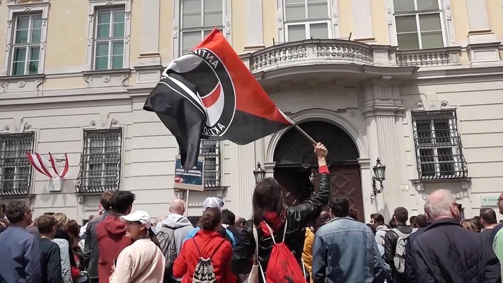 Митинг в Австрии