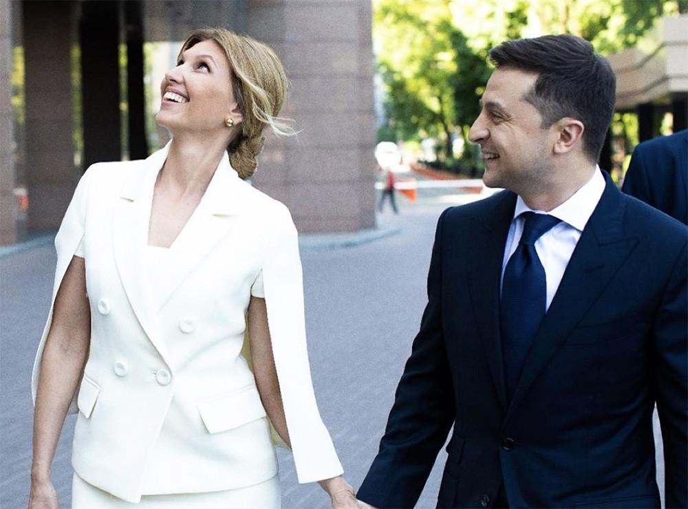 Владимир Зеленский и его жена Елена