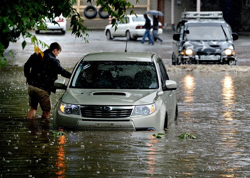 Проливные дожди во Владивостоке