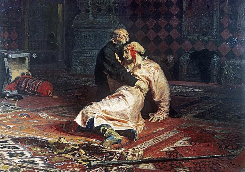 """Репродукция картины """"Иван Грозный и его сын Иван 16 ноября 1581 года"""""""