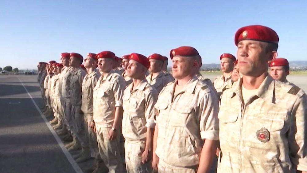 Учения российских и сирийских военных