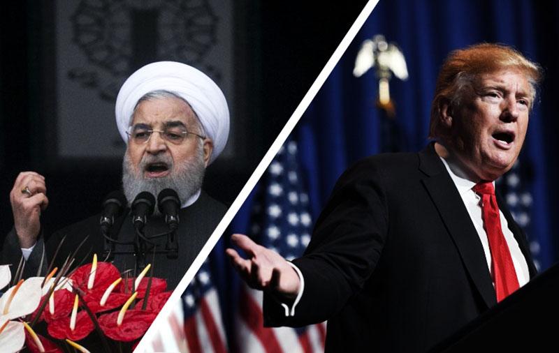 Президент Ирана Хасан Рухани и президент США Дональд Трамп