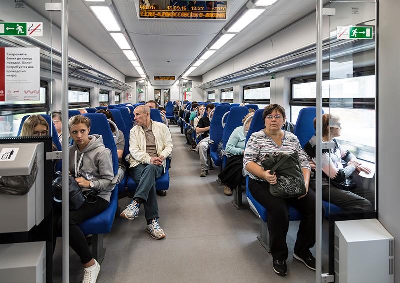 Пассажиры в МЦК