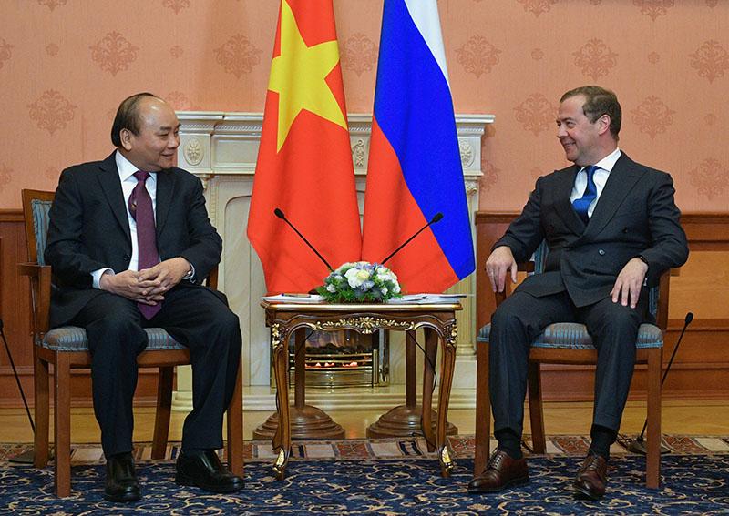 Дмитрий Медведев и премьер-министр Вьетнама Нгуен Суан Фук