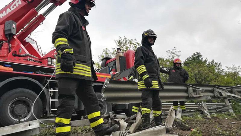 Экстренные службы на месте ДТП в Италии