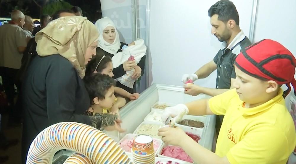 Ночная ярмарка в Сирии