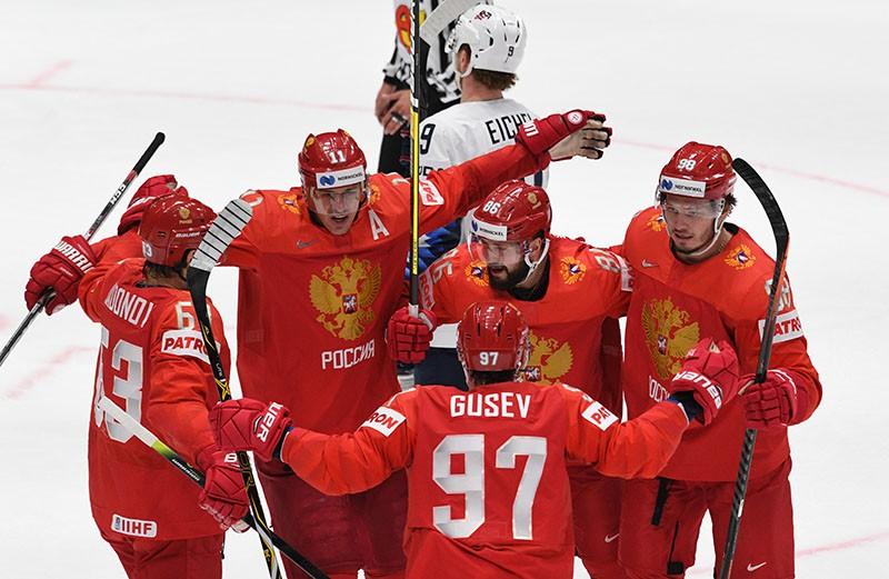 Сборная России по хоккею. Чемпионат мира. Матч Россия - США