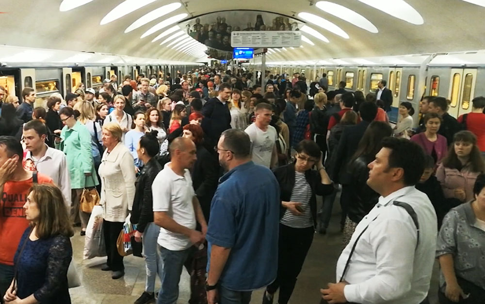 Сбой в работе Московского метрополитена