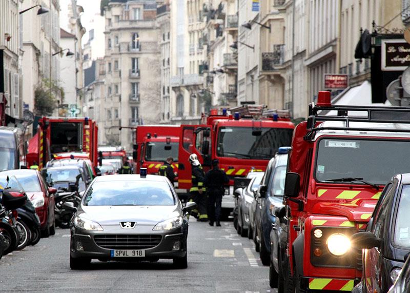 На месте взрыва во Франции