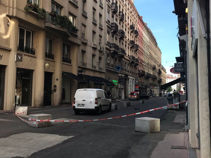 Место взрыва в Лионе