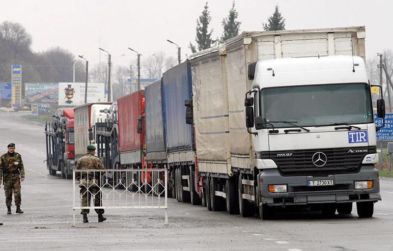 Работа таможенных и пограничных служб Украины на границе с Россией
