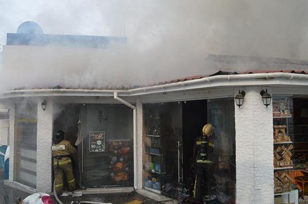 Возгорание дельфинария в Севастополе