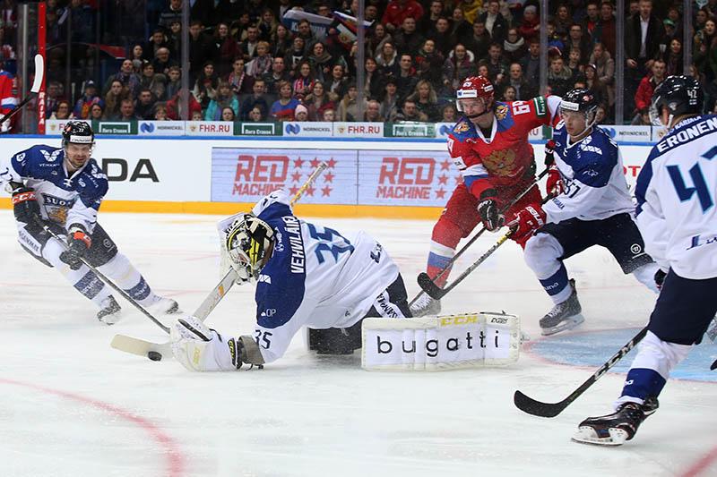 Хоккей. Матч Россия - Финляндия