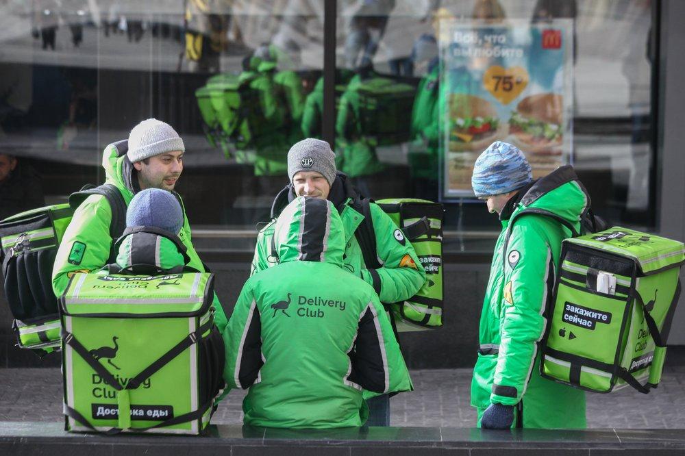 Курьерская доставка еды в Москве