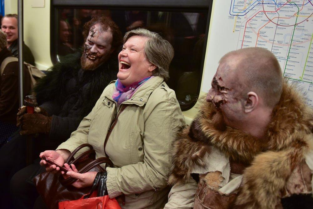 """Акция в метро, посвященная завершению седьмого сезона саги """"Игра престолов"""""""