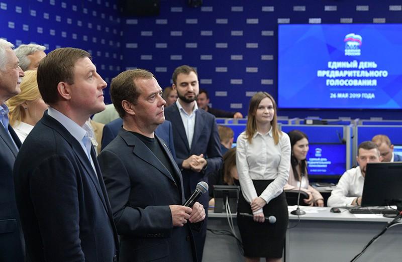 """Председатель партии """"Единая Россия"""", премьер-министр Дмитрий Медведев"""