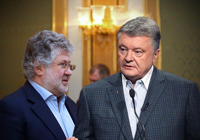 Коллаж: Игорь Коломойский и Петр Порошенко
