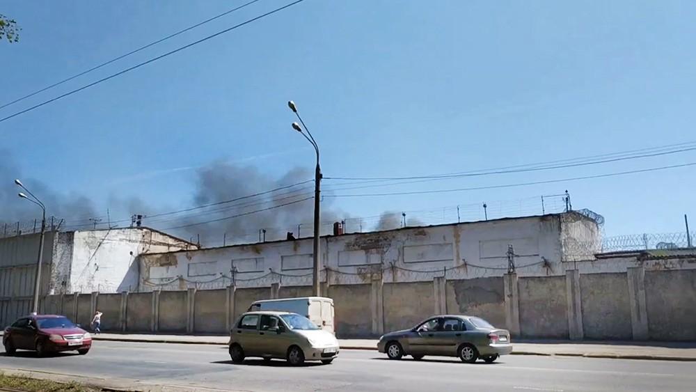 Пожар в колонии в Одессе