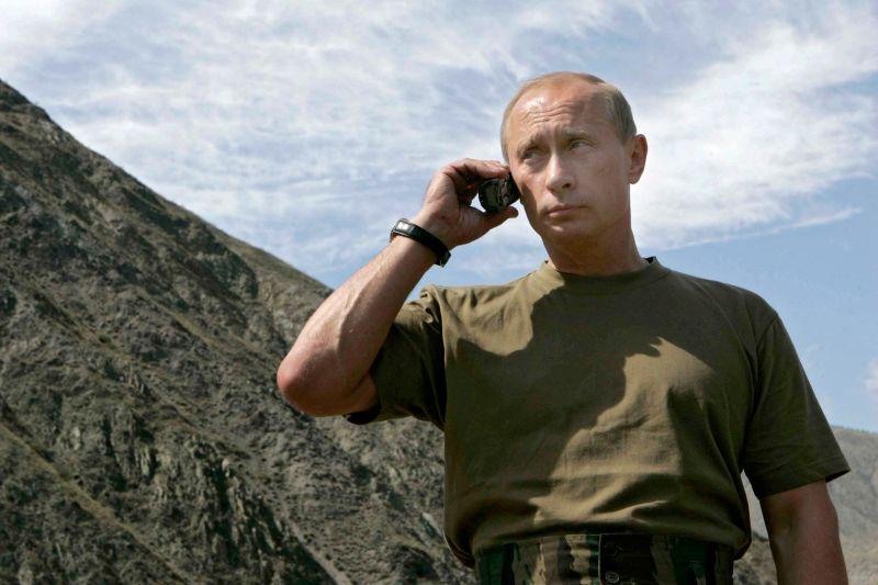 Владимир Путин в горах