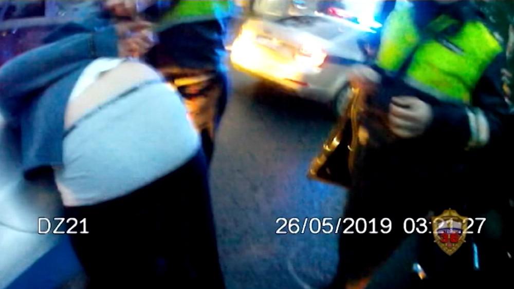 Задержание водителя сбившего сотрудника ДПС
