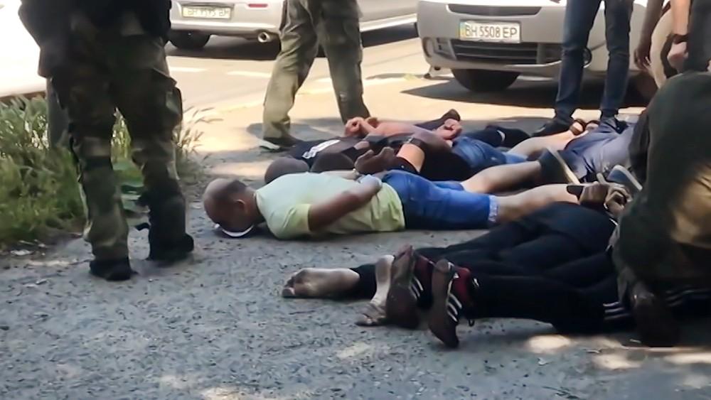 Задержанные заключенные колонии в Одессе