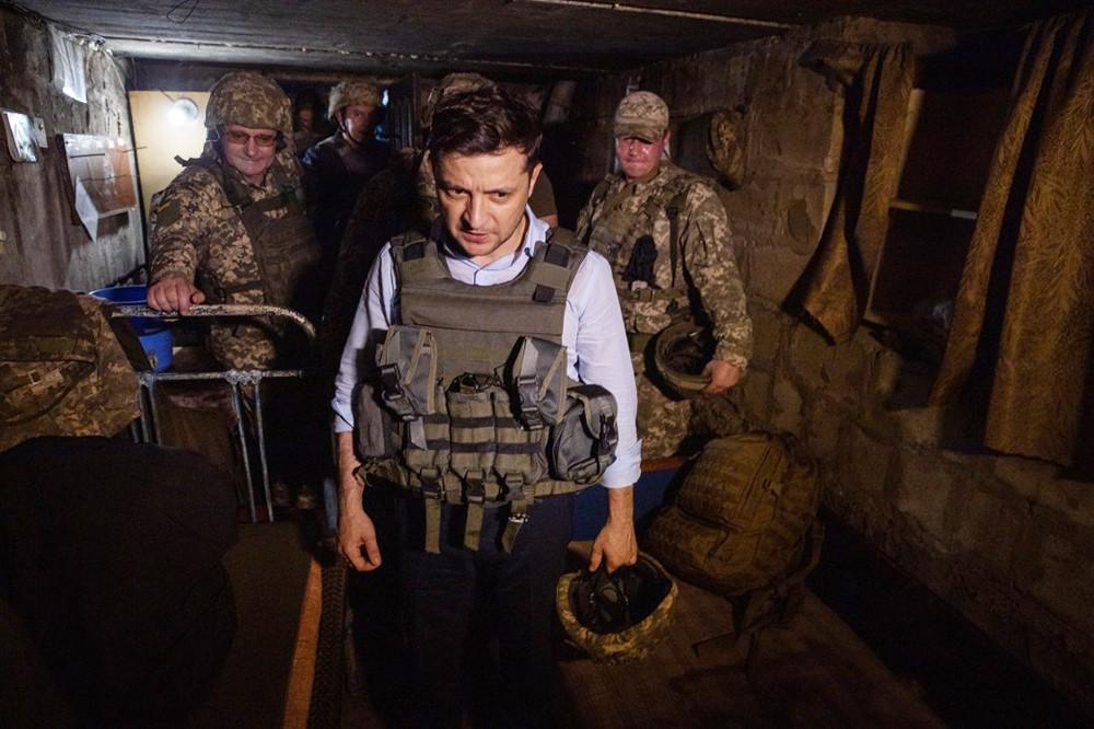 Владимир Зеленский и украинские военные