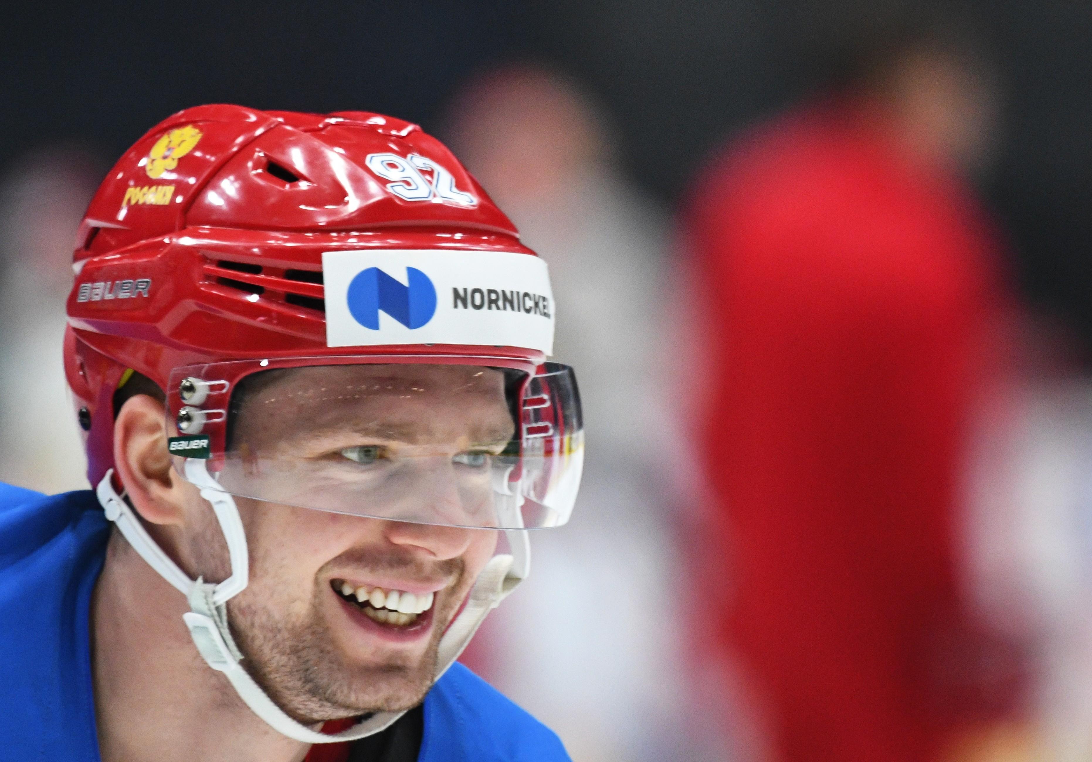 Игрок сборной России по хоккею Евгений Кузнецов