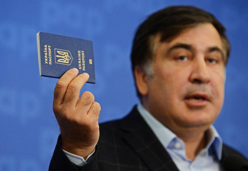Михаил Саакашвили с украинским паспортом