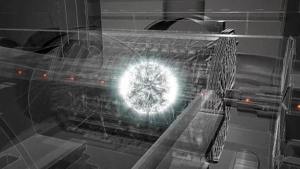 Модель эксперимента в большом адронном коллайдера