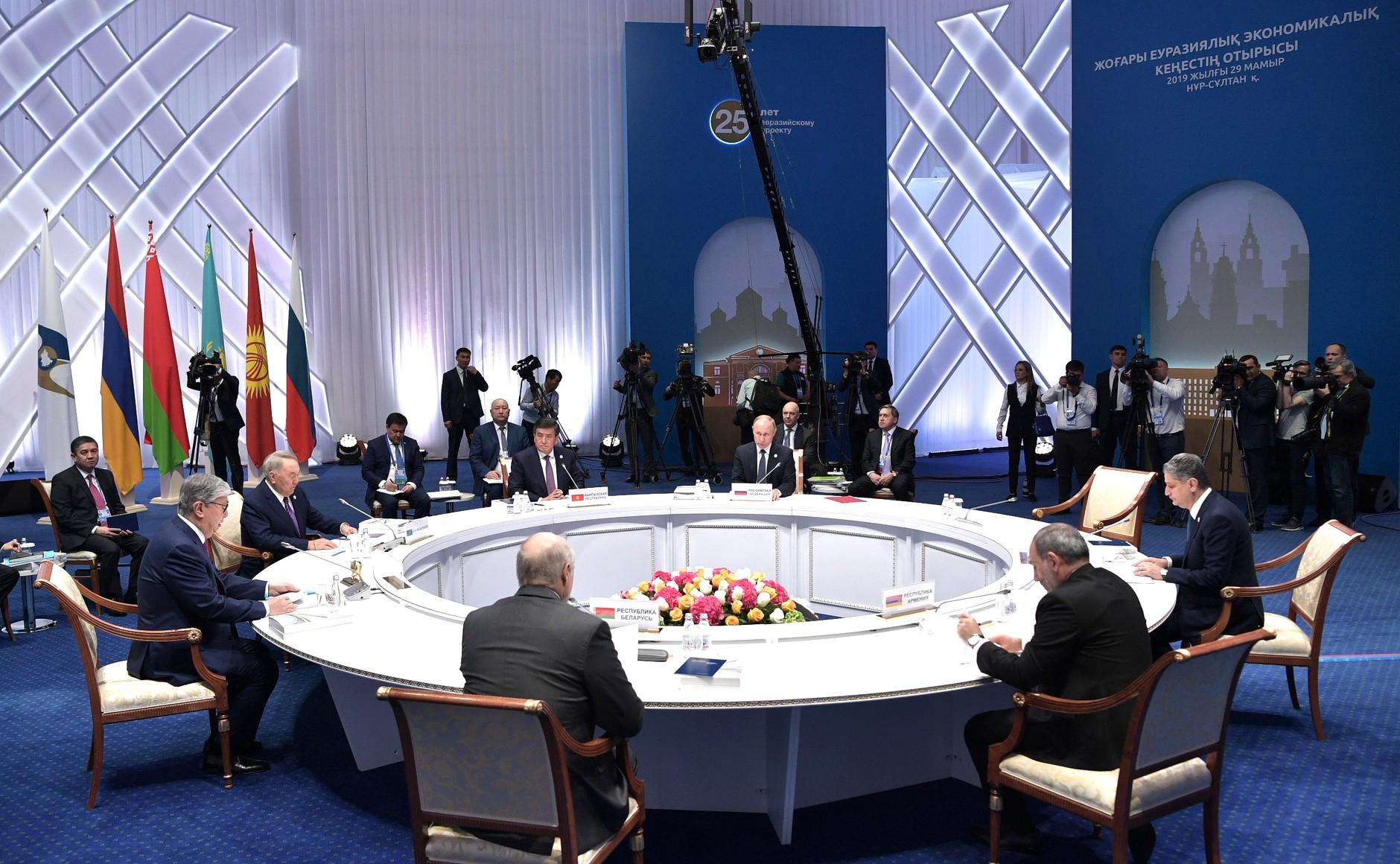 Заседание Высшего Евразийского экономического совета (ЕАЭС)