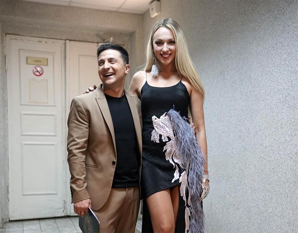 Ольга Полякова и Владимир Зеленский