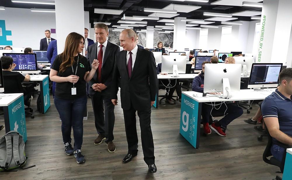 Владимир Путин посетил Школу 21
