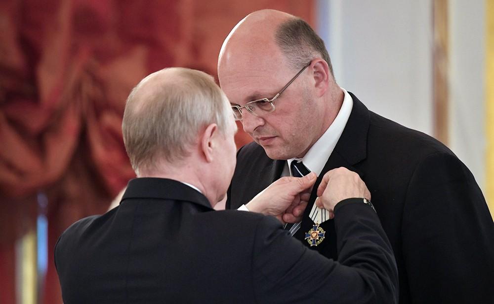 Церемония награждения многодетных семей в Кремле