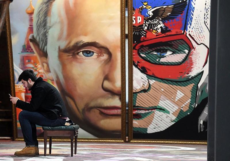 Портрет Владимира Путина на выставке